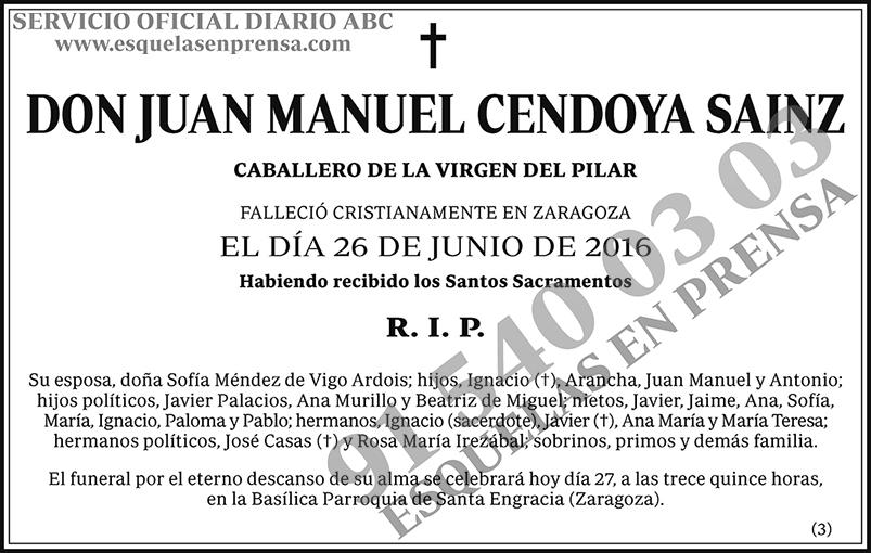 Juan Manuel Cendoya Sainz
